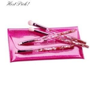 New Glamierre Pink Luxe Glitter Eye Brush Set